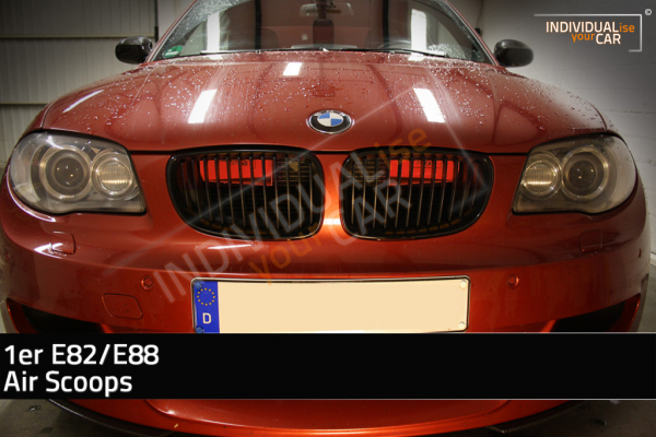 1er E82 E88 Air Scoops Rot