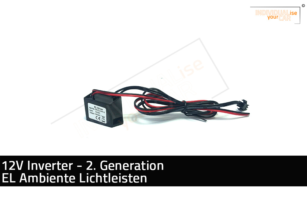 IndividualiseYourCar Shop - 12V Inverter EL Ambience Light Strip - 2 ...