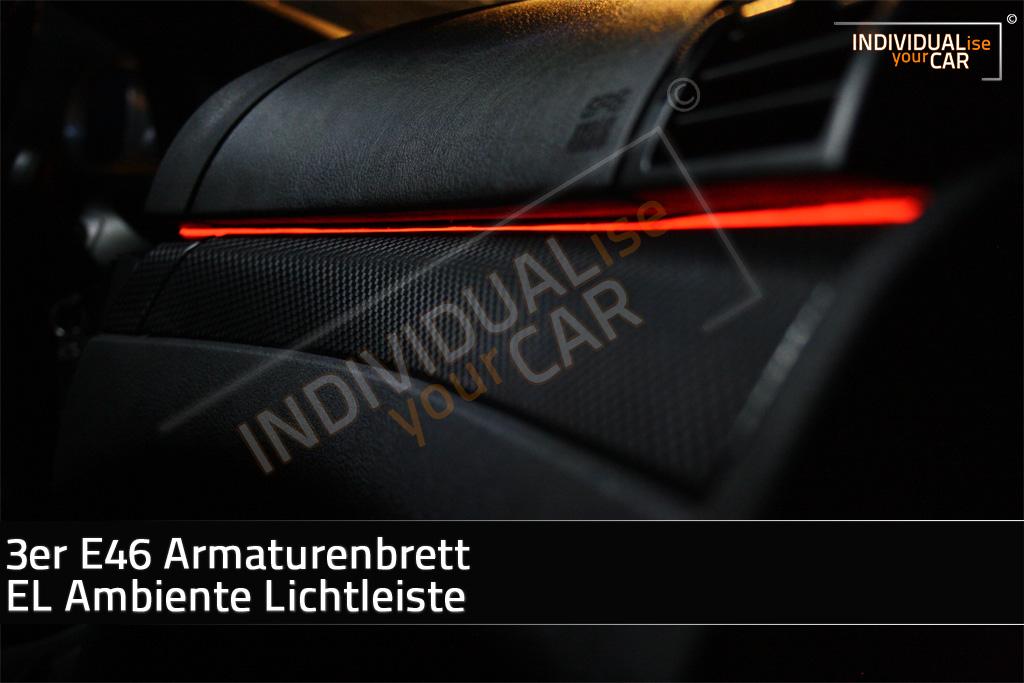 Armaturenbrett bmw  IndividualiseYourCar Shop - EL Ambiente Lichtleiste für 3er E46 ...