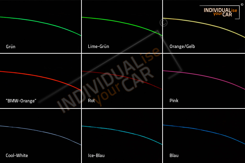 Individualiseyourcar Shop El Ambiente Lichtleiste Ambientebeleuchtung F 252 R Z4 E85 E86