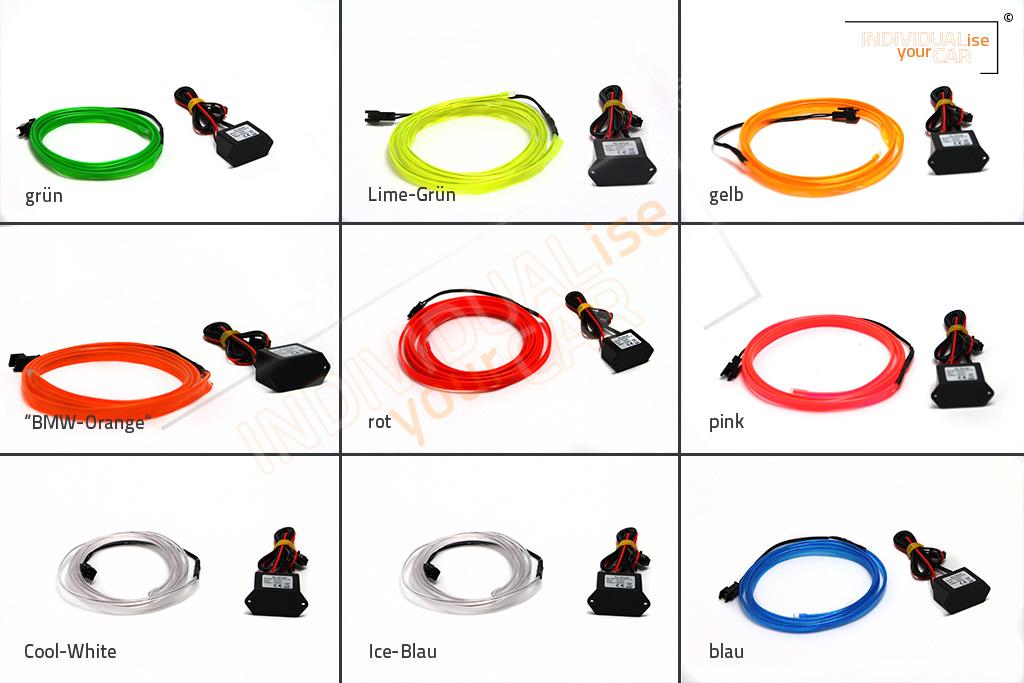 Armaturenbrett EL Ambiente Lichtleiste Set Ambientebeleuchtung f/ür 3er E90 E91 E92 E93 Blau