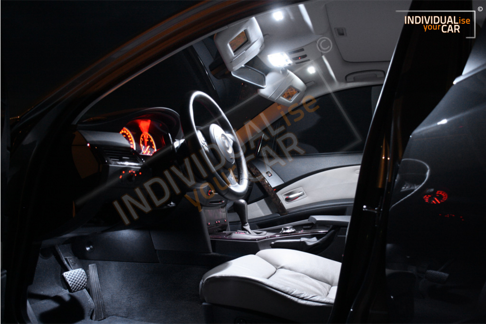 LED Innenraumbeleuchtung SET für BMW 5er E60 Limousine - Pure-White